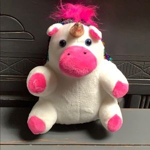 Unicorn Stuffed Animal Reverse Direction Sequins